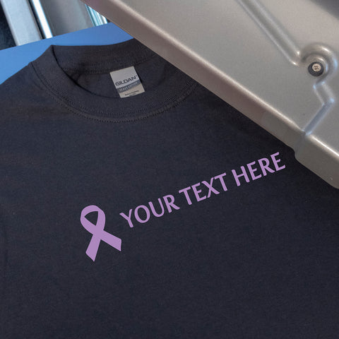 Lavender All Cancer Awareness Ribbon Personalized Heat Transfer
