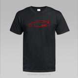 2015 WRX STI Inspired Red Silhouette T-Shirt