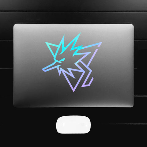 Pogo Team Instinct Re-Imagined Zapdos Vinyl Decal Sticker (Specialty Colors)