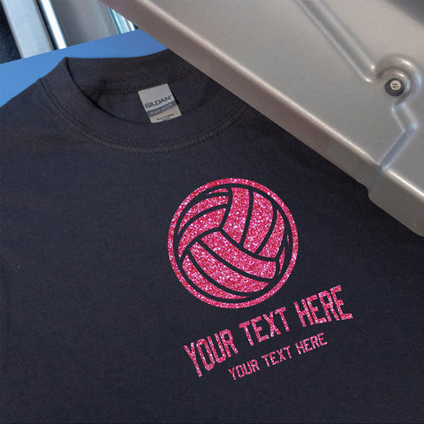 Volleyball Personalized Text T-Shirt Heat Transfer