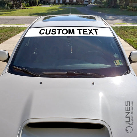 Windshield Vinyl Banner