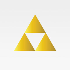 Legend Of Zelda Tri-Force Replica Decal