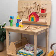 Load image into Gallery viewer, Childrens furniture markers bench for kids open play