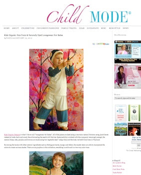 Childmode supports organic non toxic dyes and Kids Organic Baby Dresses