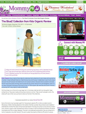 Mommy Press Release - The Bluez Collection from Kids Organic Review
