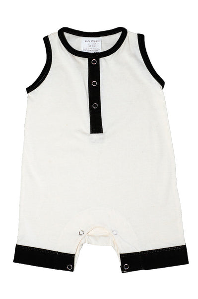 Playsuit: Classic Sleeveless Shortall