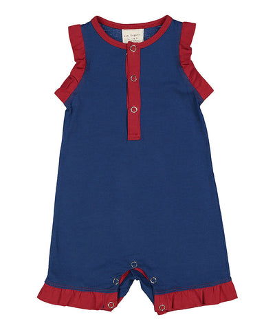 Sleeveless Ruffle Shortall