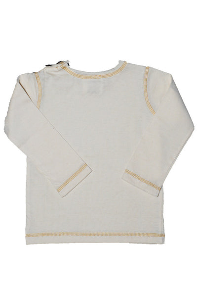 "Tops: ""Denim-Look"" Long Sleeve T Shirt"