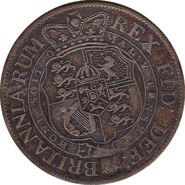 1820 HALFCROWN ( GVF )