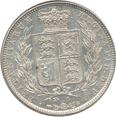 1844 HALFCROWN ( UNC )