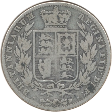 1846 HALFCROWN ( F )