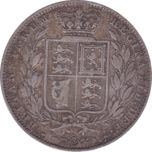 1850 HALFCROWN ( GF )