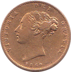 1869 HALF SOVEREIGN ( GF )