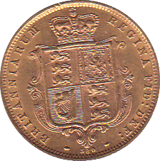 1872 HALF SOVEREIGN ( GEF )