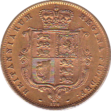 1872 HALF SOVEREIGN ( GVF )