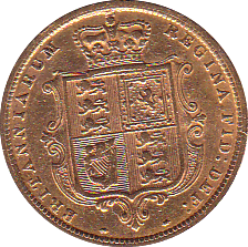 1885 HALF SOVEREIGN ( VF )