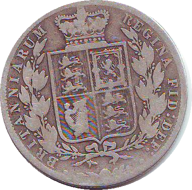 1887 HALFCROWN (F)