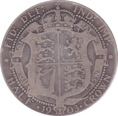 1903 HALFCROWN ( F )