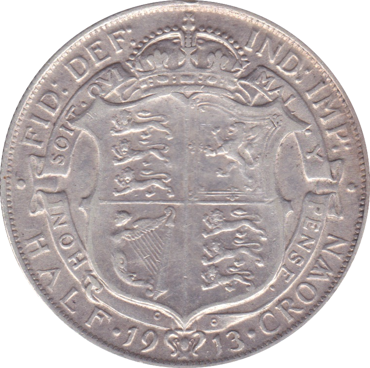 1913 HALFCROWN ( VF ) E