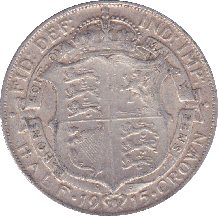 1915 HALFCROWN ( VF ) F