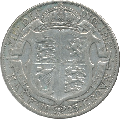 1925 HALFCROWN ( GF )