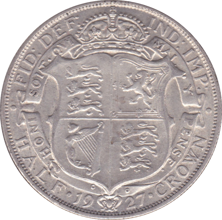 1927 HALFCROWN ( VF ) B
