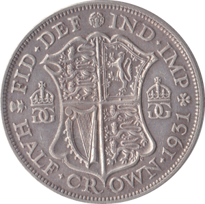 1931 HALFCROWN ( GVF )