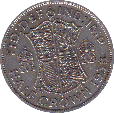 1938 HALFCROWN ( F )