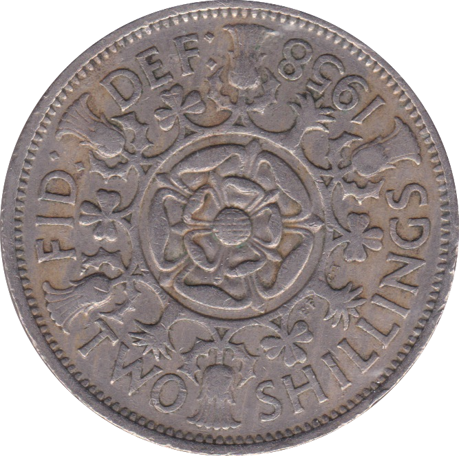 1958 TWO SHILLINGS ( VF )