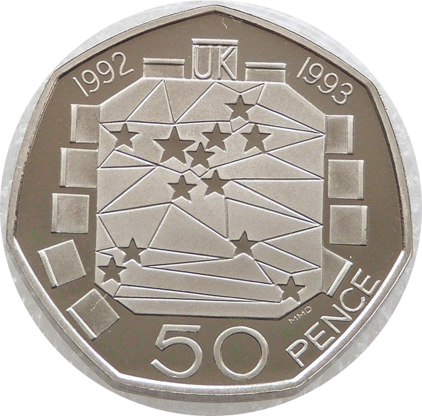 1992 BU EC Council 50p Coin