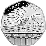 2000 Public Libraries 50p Coin