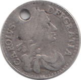 1673 MAUNDY TWO PENCE ( GF ) HOLED 4
