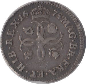 1674 MAUNDY FOURPENCE ( F )