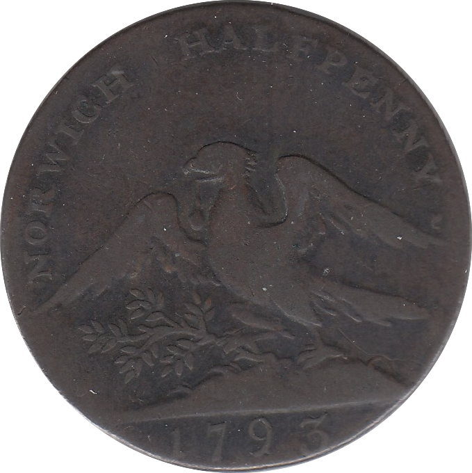 1793 HALFPENNY SUCCESS TO CITY OF NORWICH TOKEN