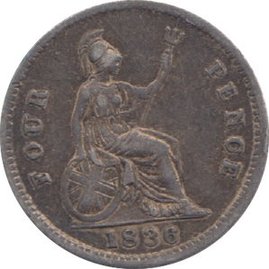 1836 FOURPENCE ( GVF ) 7
