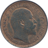 1902 ONE THIRD FARTHING ( EF ) 7