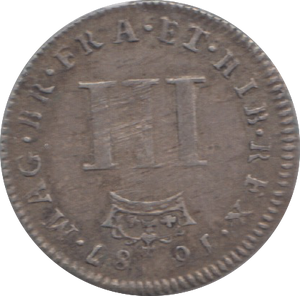 1687 MAUNDY THREEPENCE ( GF ) 8
