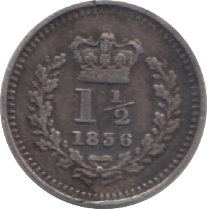 1836 THREE HALFPENCE ( VF ) 8