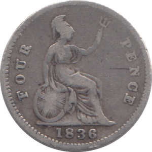 1836 FOUR PENCE ( FAIR ) 8