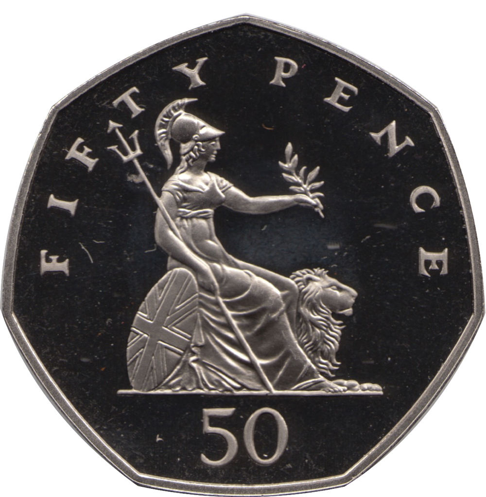 1985 FIFTY PENCE PROOF BRITANNIA