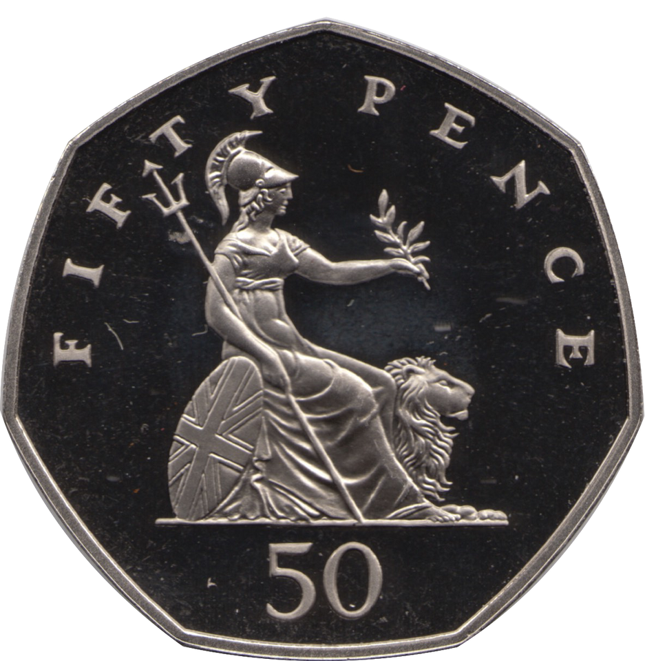 1988 FIFTY PENCE PROOF BRITANNIA