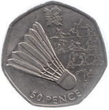 2011 CIRCULATED LONDON OLYMPIC 2012 50p BADMINTON