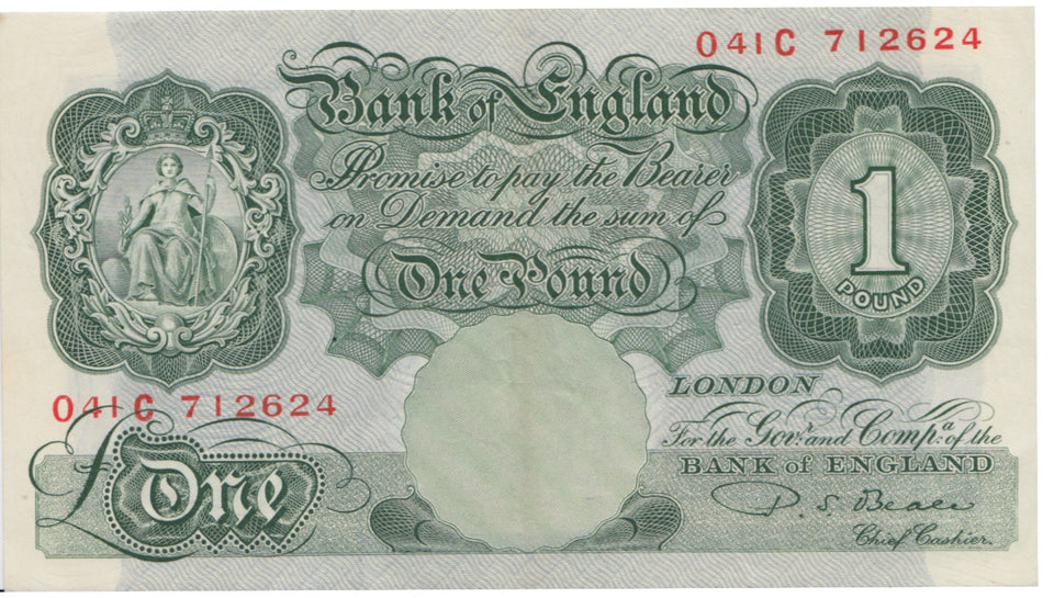 ONE POUND BANKNOTE BEALE REF 8