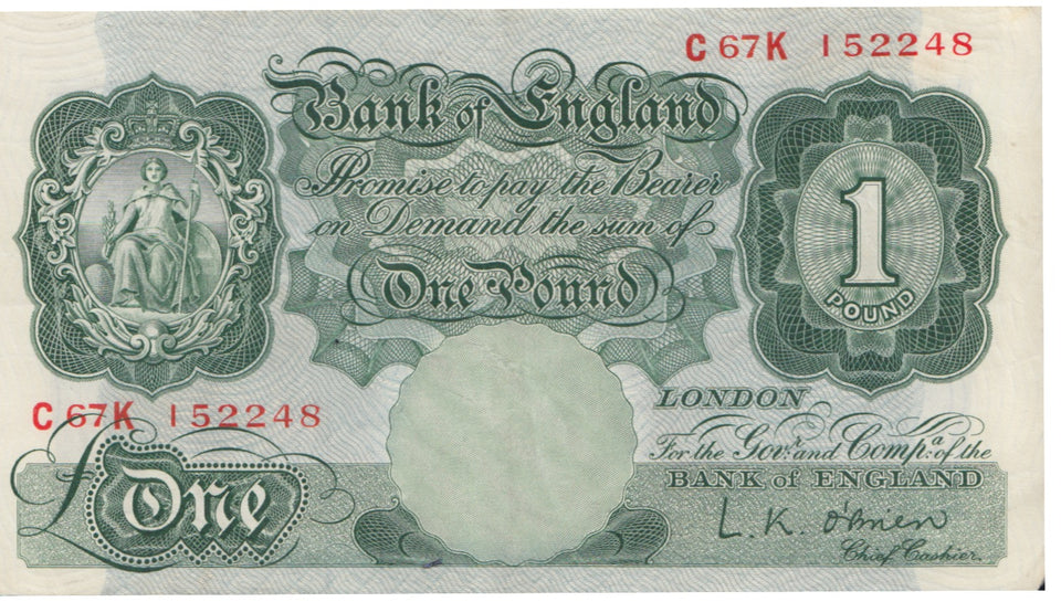 ONE POUND BANKNOTE O'BRIEN REF 1