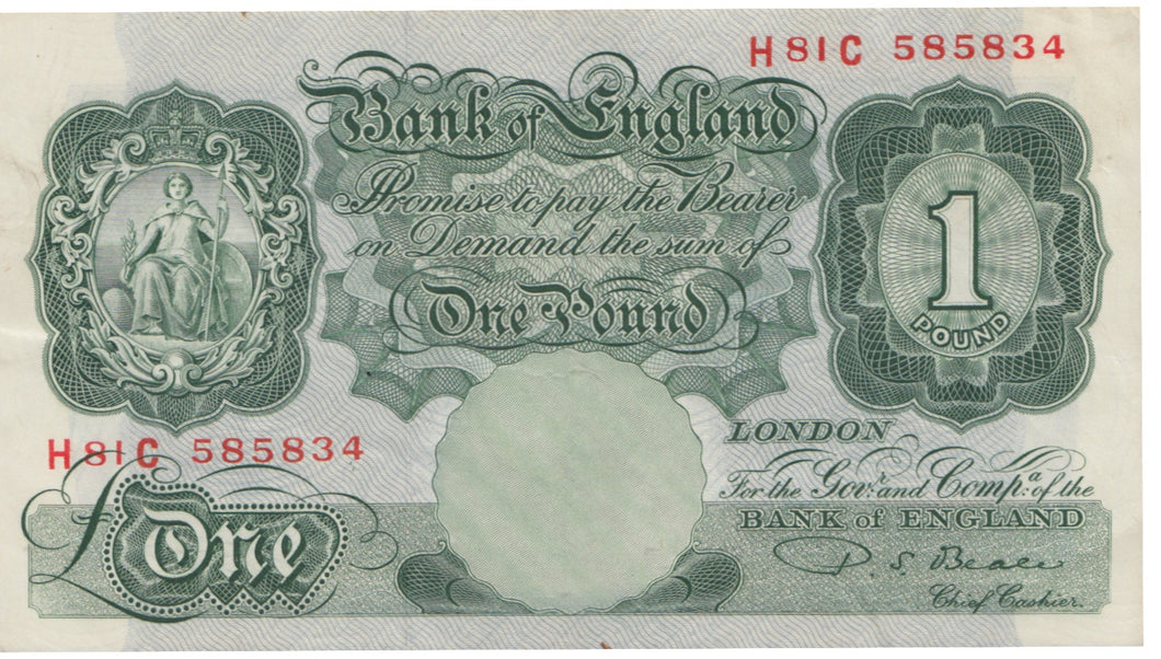 ONE POUND BANKNOTE BEALE REF 5
