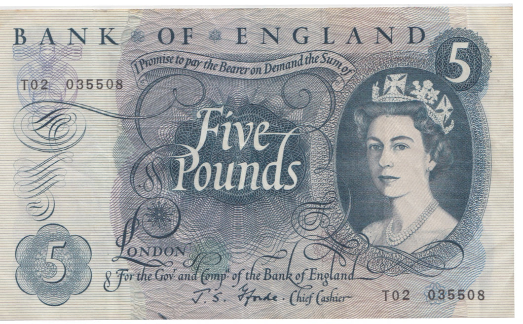 FIVE POUND BANKNOTE FORDE REF 27