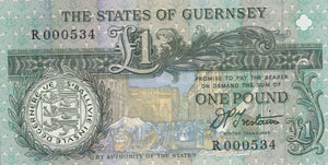 £1 THE STATES OF GUERNSEY BANK NOTE HIGH GRADE REF 354