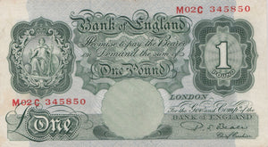 £1 BANK OF ENGLAND BEALE BANK NOTE HIGH GRADE REF 38