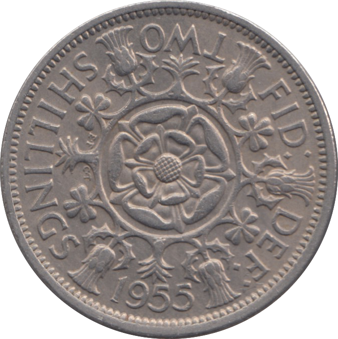 1955 TWO SHILLING ( VF ) REF 1