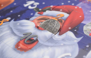 New Christmas Coin Hunt Children's Savers Xmas Advent Calendar 50p £1 £2